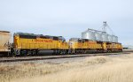 Westbound UP freight with trailing GP40-2